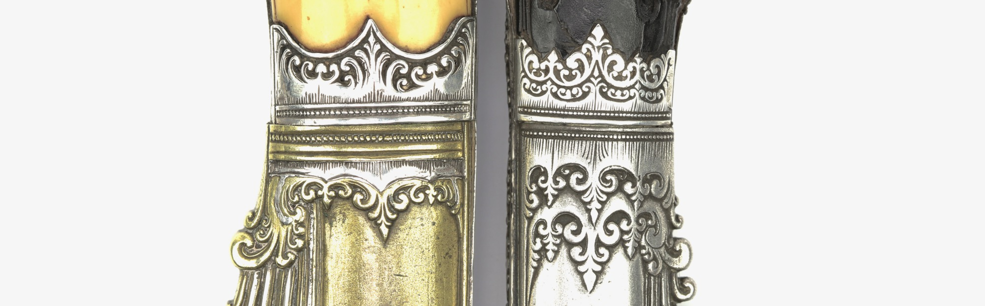Lotus bud elements on Sinhalese knives