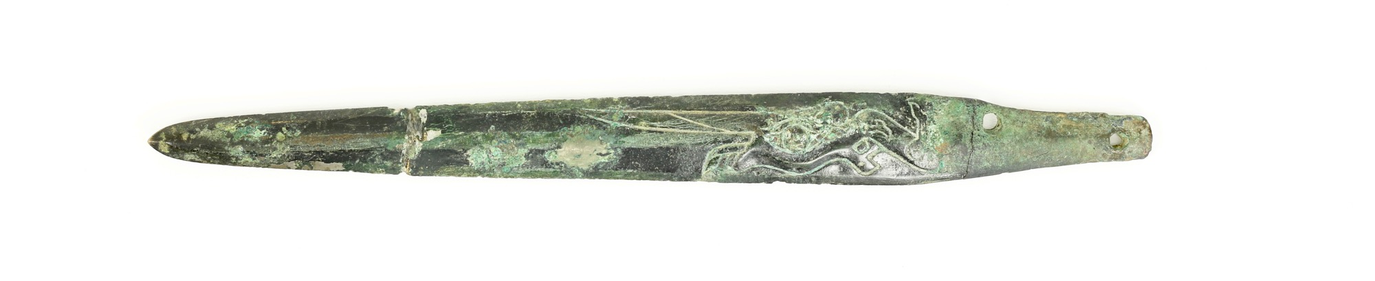 An ancient bronze dagger from the BaShu culture
