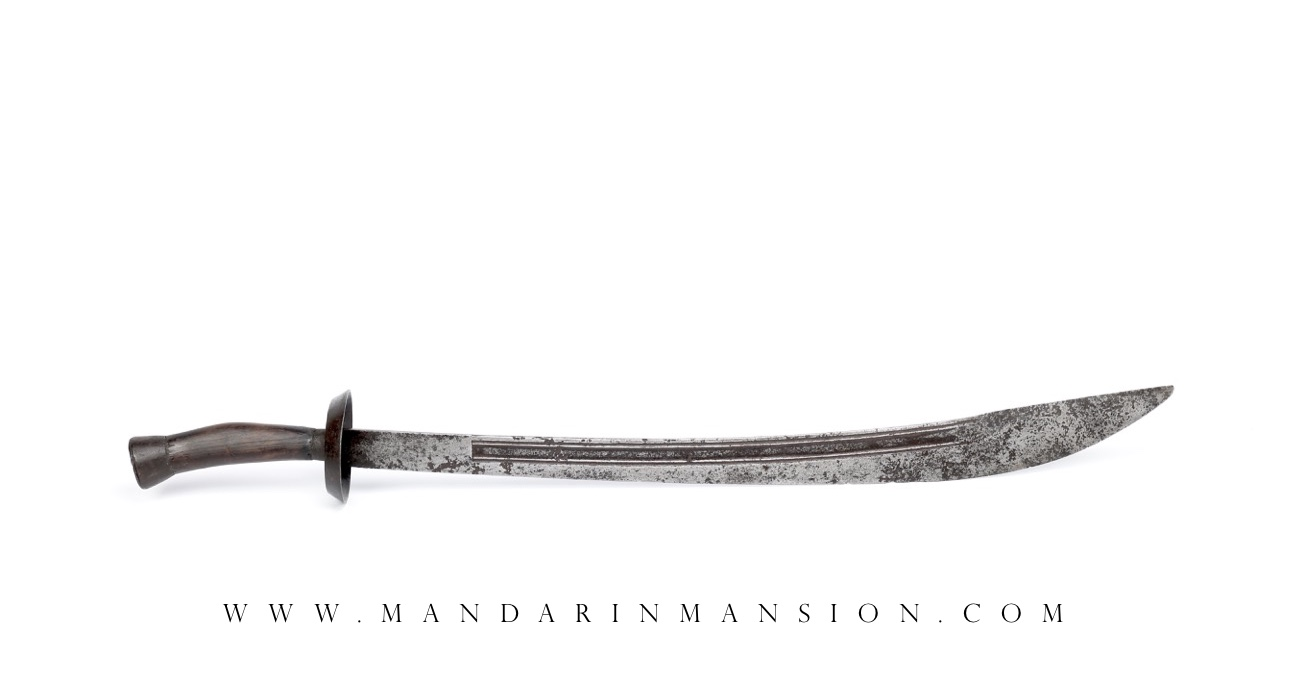 A classic antique Chinese oxtail saber