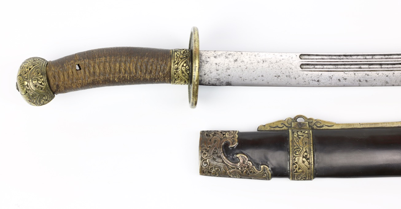 An antique Chinese officer saber of the 19th century.