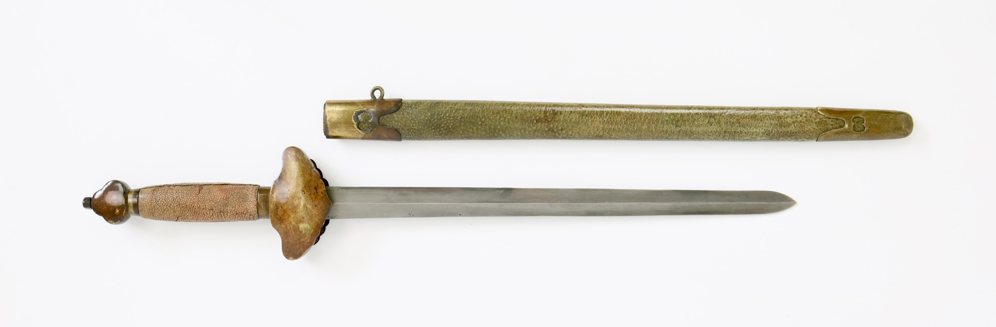 A Chinese shortsword with fine blade