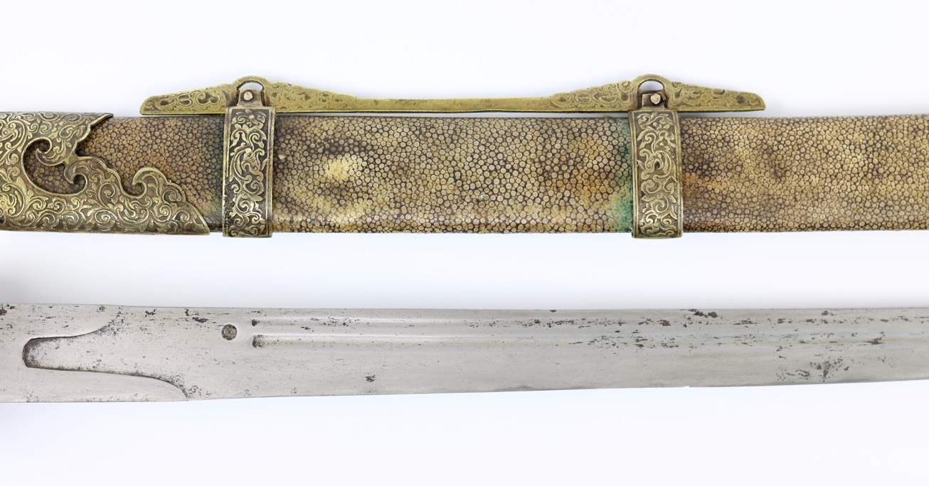 An antique Chinese southern saber of the 19th century.