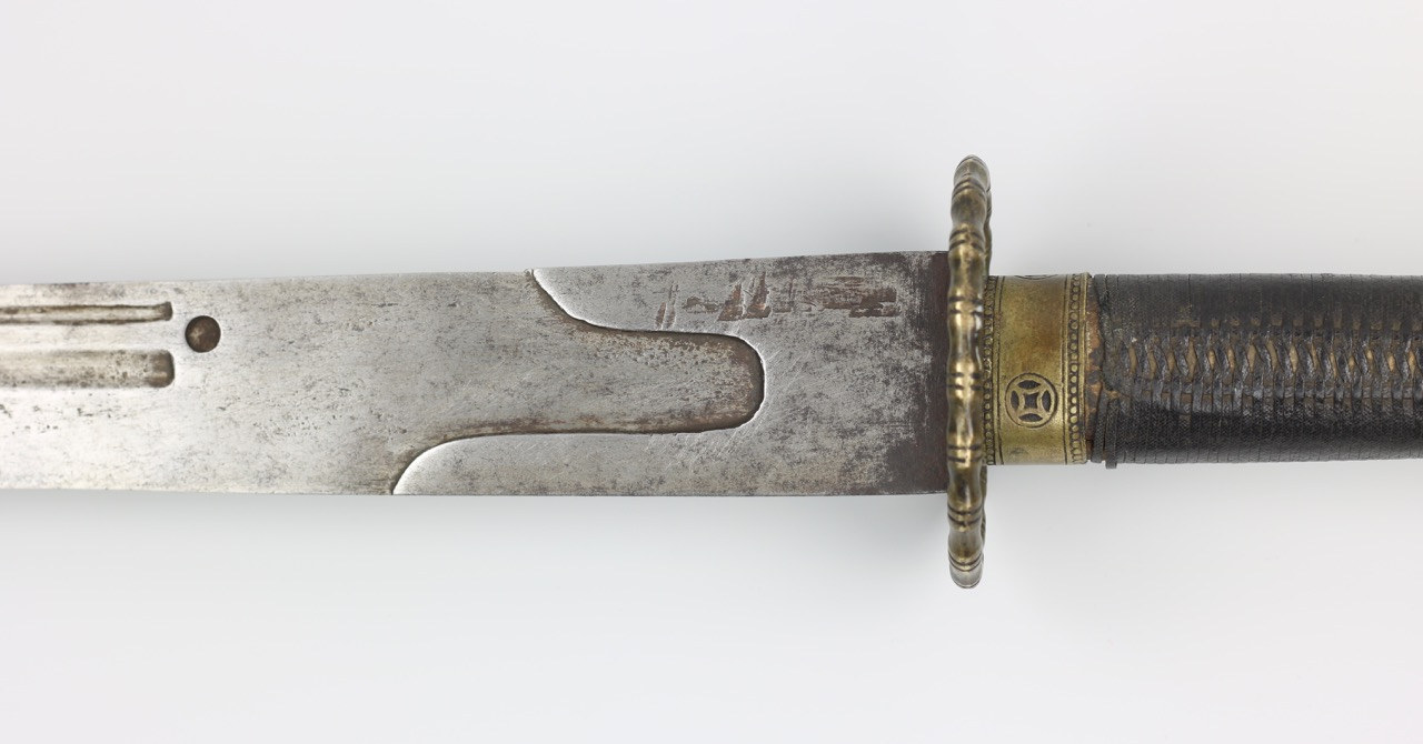 A southern Hanjun bannerman saber with removed markings.