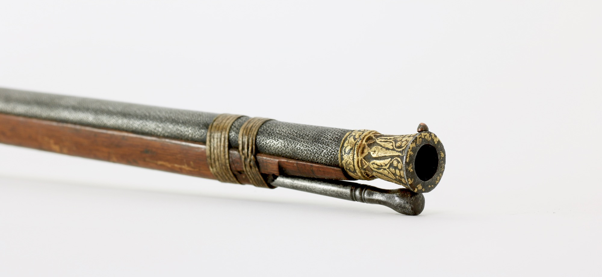 A very fine Indian matchlock musket, or toradar, with stippled barrel.