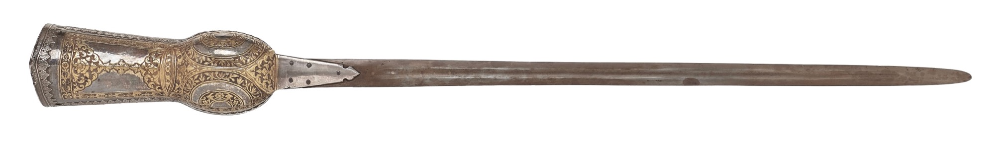 An Indian guantlet sword (pata) with Kutch style decoration