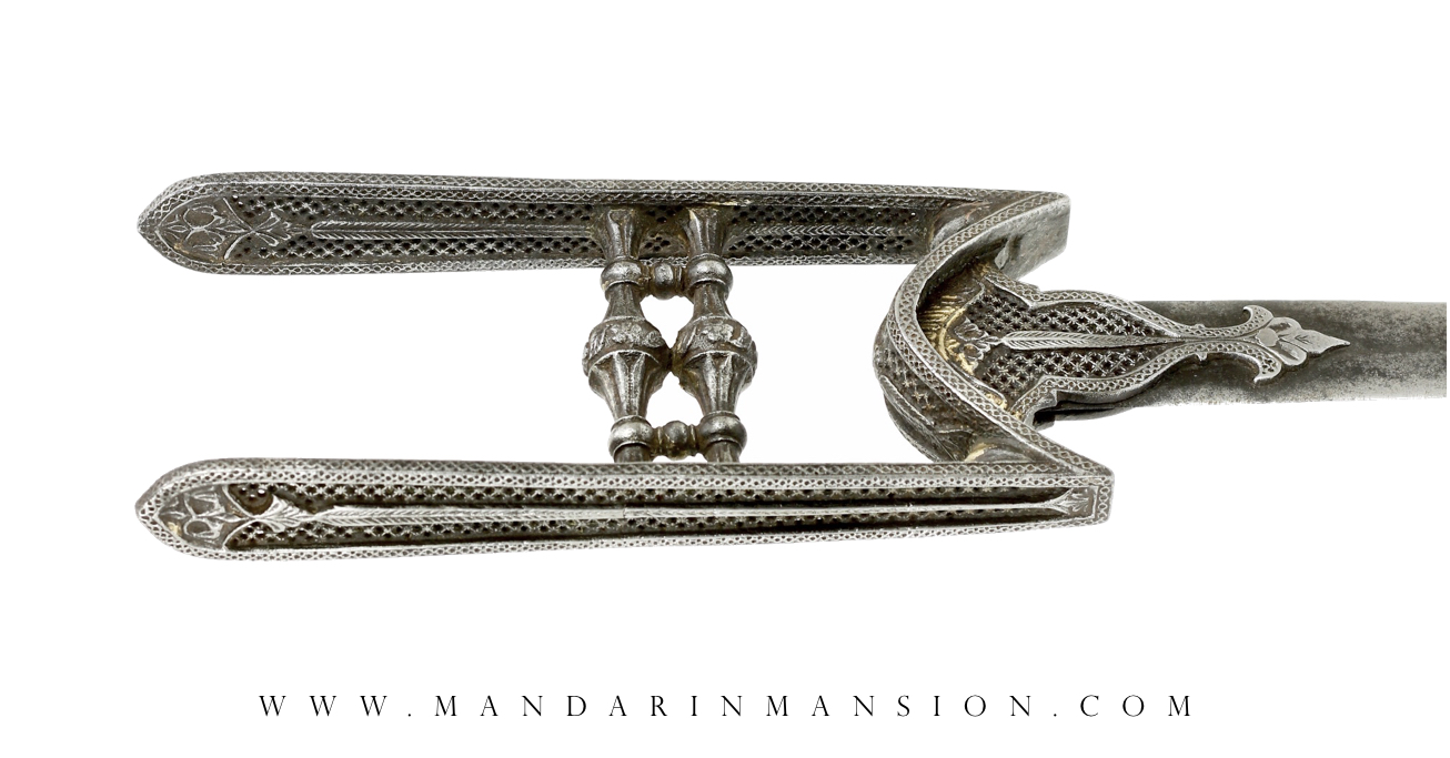 A fine South Indian katar with openwork, Tanjore style