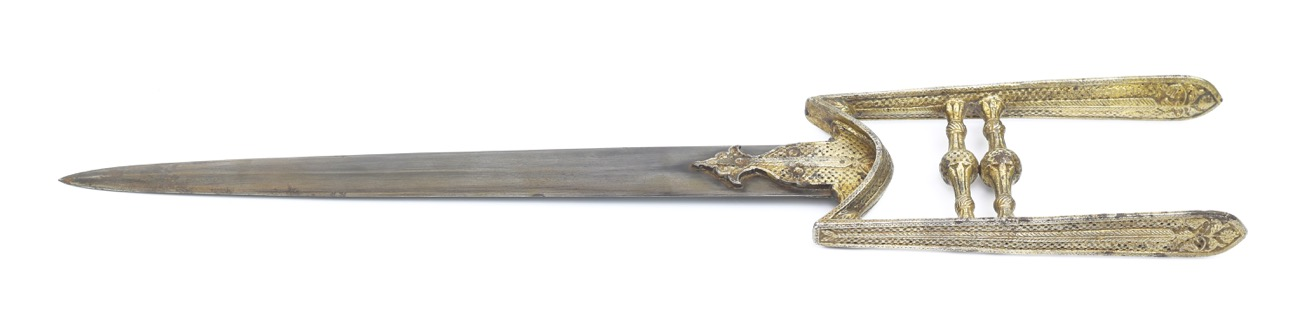 A very rare 17th century katar with two types of decoration. mandarinmansion.com