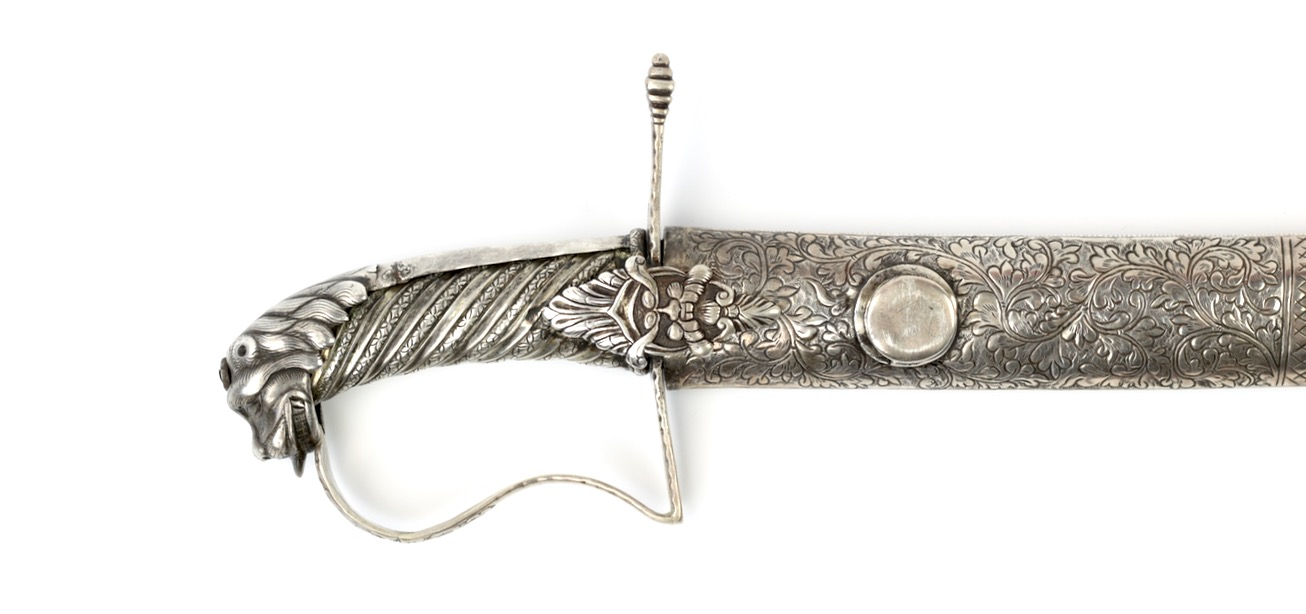 A silver mounted Sumatran saber attributed to the Chief of Pagaruyung