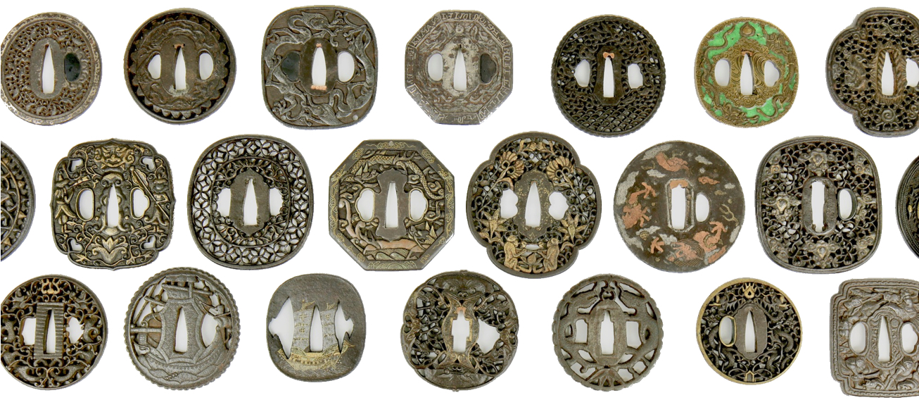 A selection of Asian export sword guards