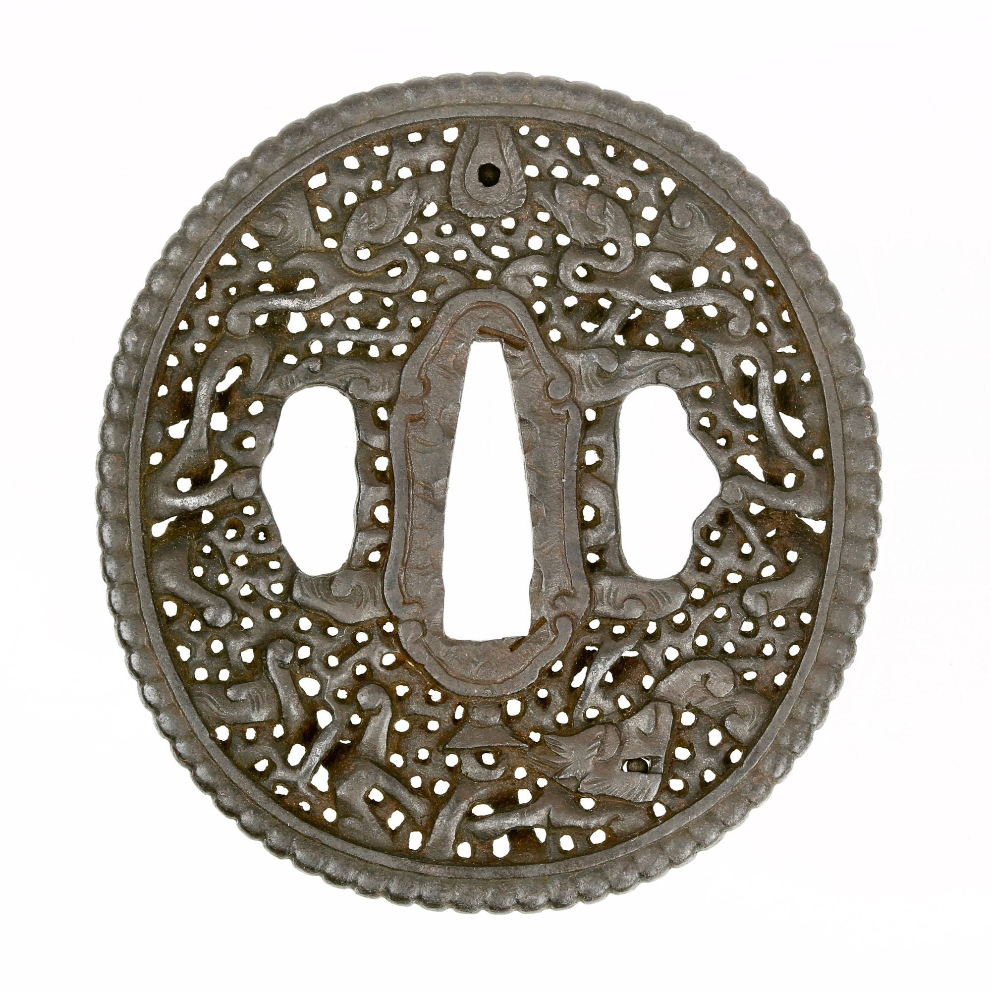 An Asian export sword guard