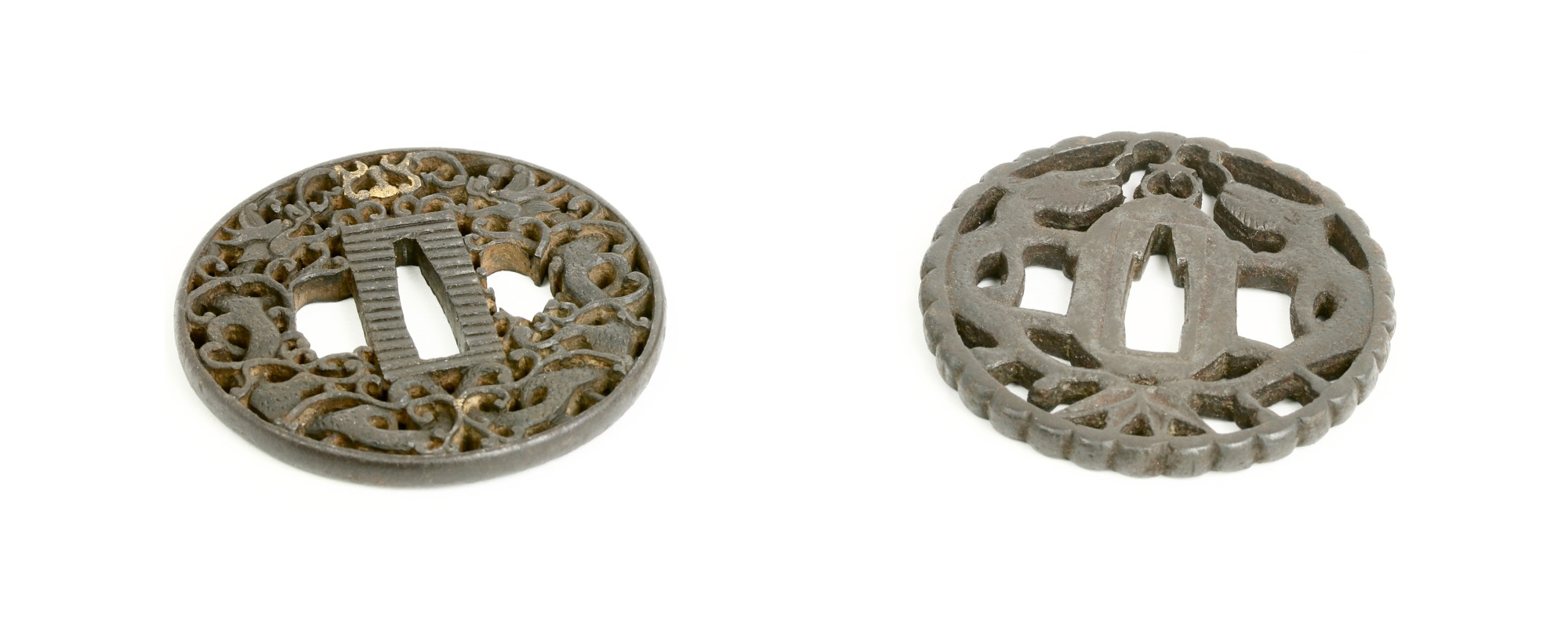Two sword guards after the Canton style.