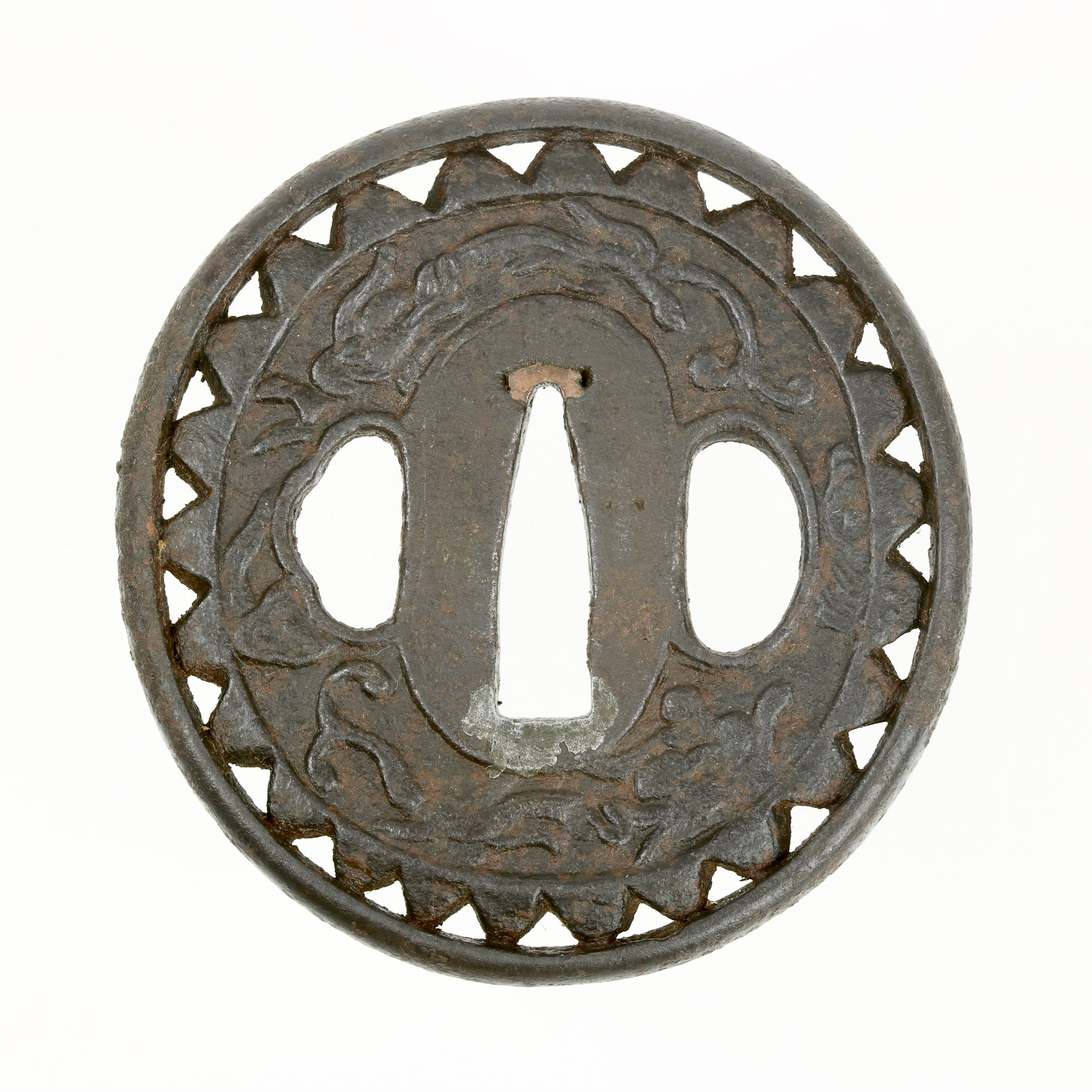 An Asian export sword guard intended for the Japanese market