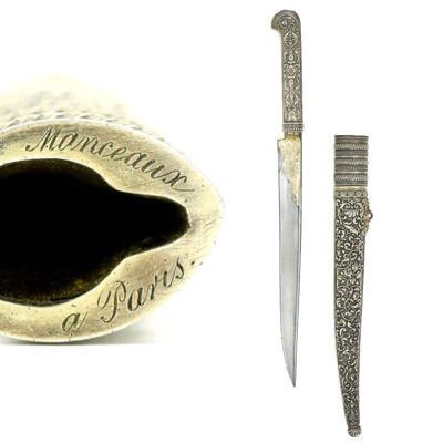 An Ottoman style knife by Manceaux of Paris logo
