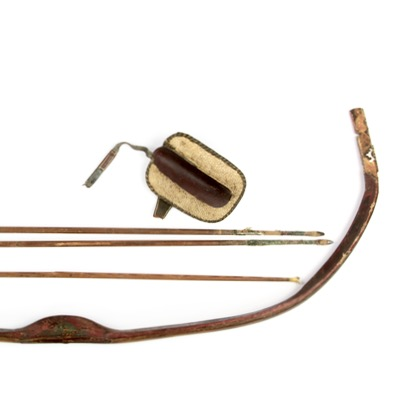An Ottoman archery set including a siper and a 16th century Ottoman composite reflex bow