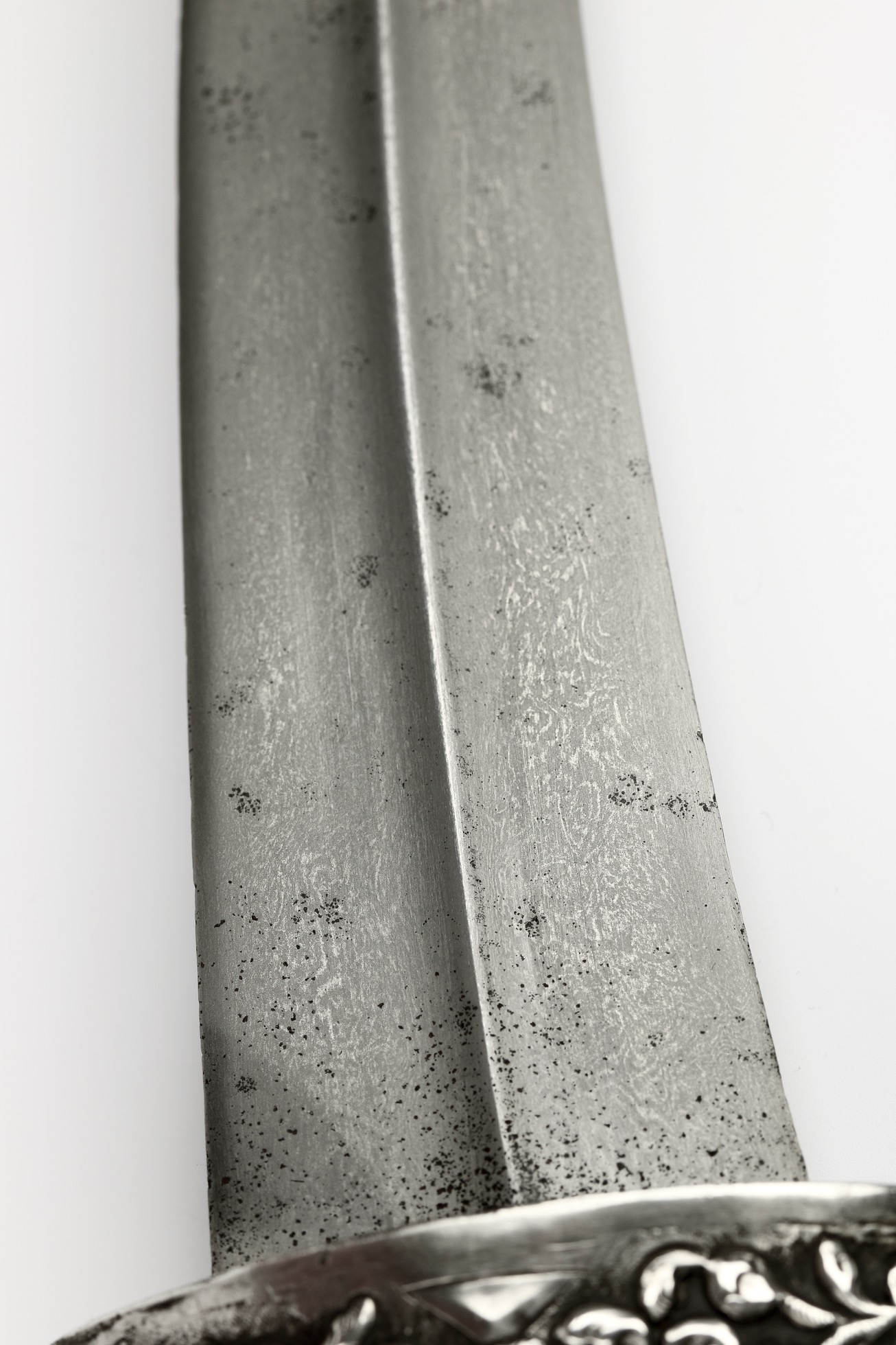 A large silver mounted Ottoman dagger