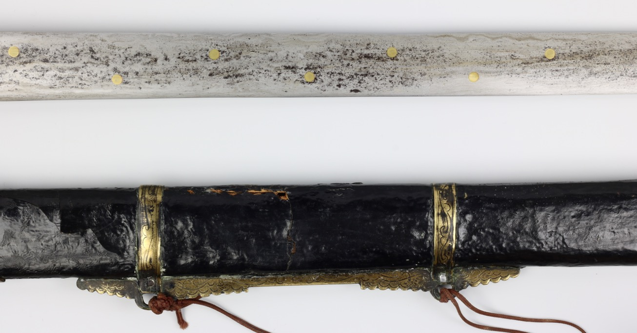 Antique Chinese seven stars straightsword