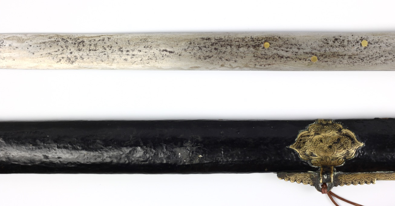 Antique Chinese forge-folded straightsword