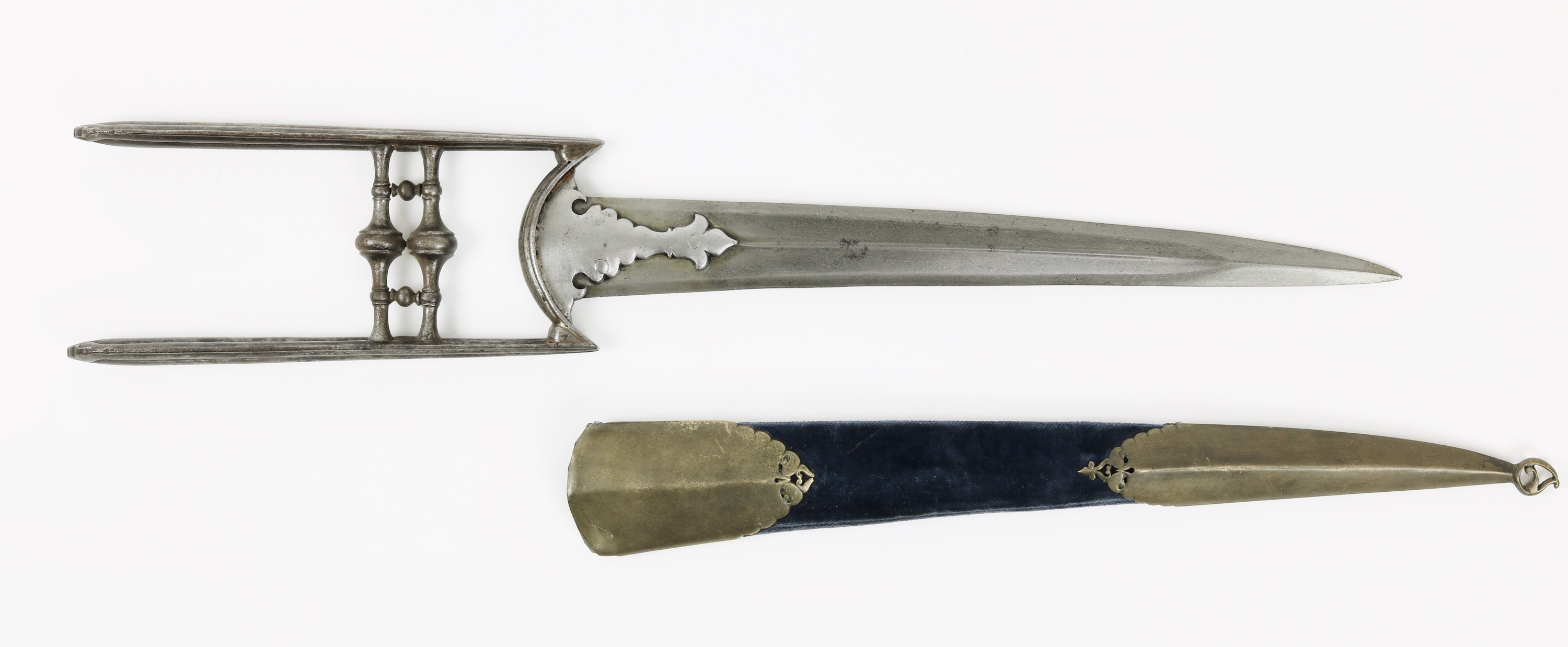 17th century katar with curved blade