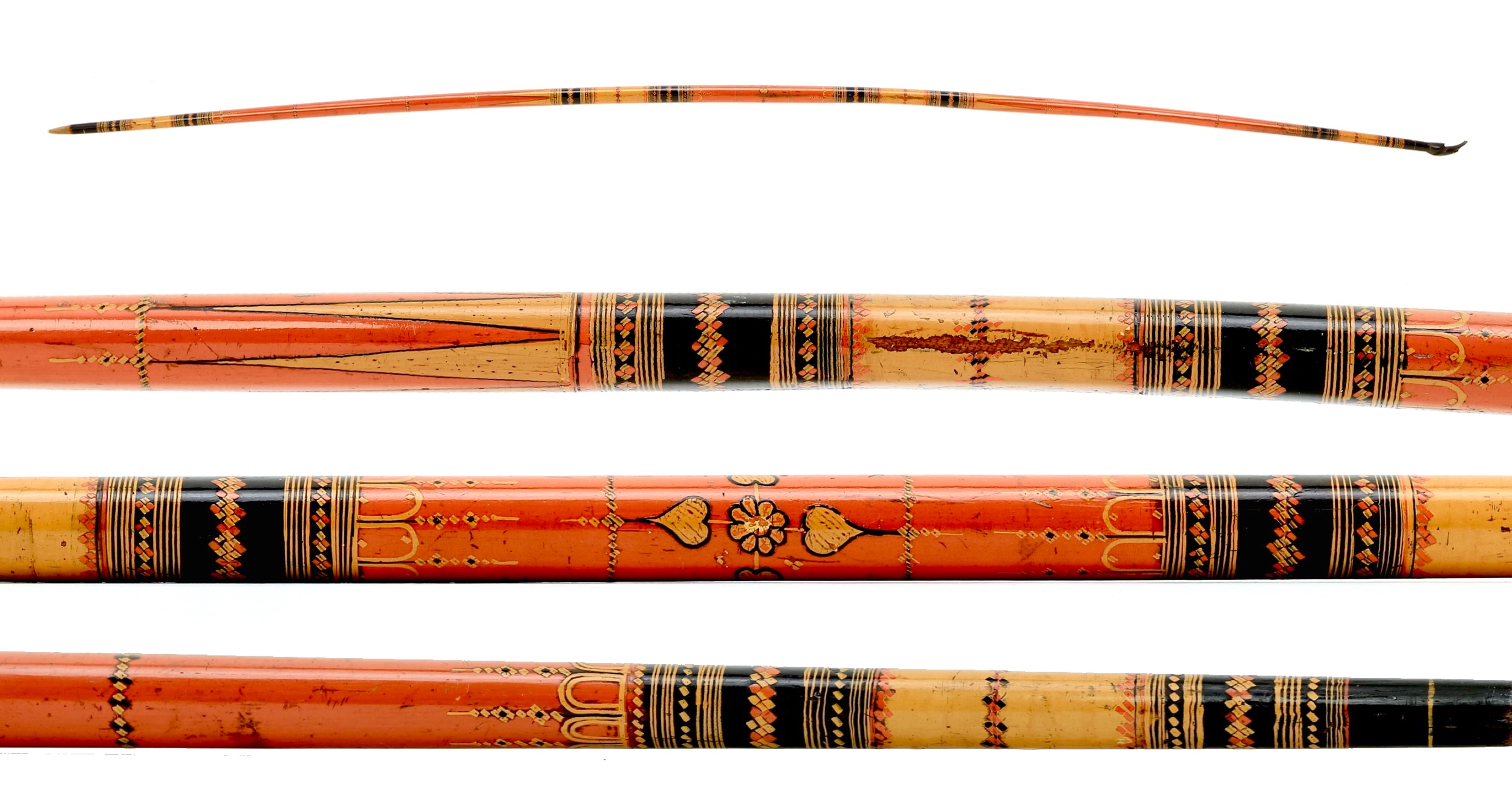 Fine Sinhalese lacquered bow