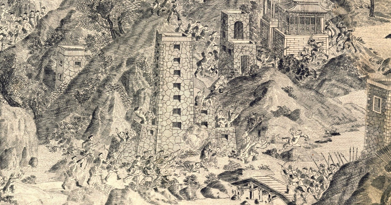 Storming of a tower in the 2nd Jinchuan war