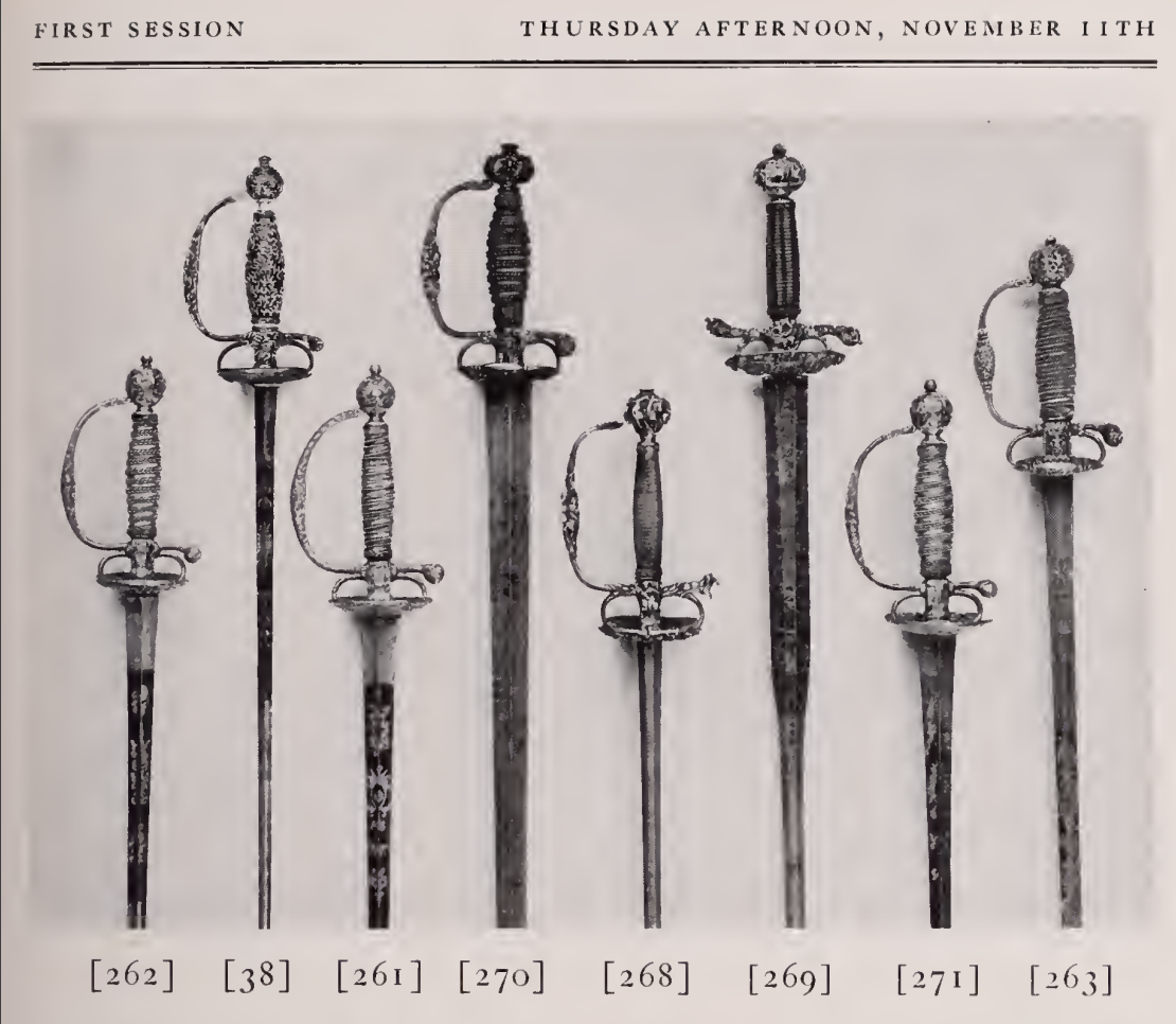 Dutch smallsword in catalog