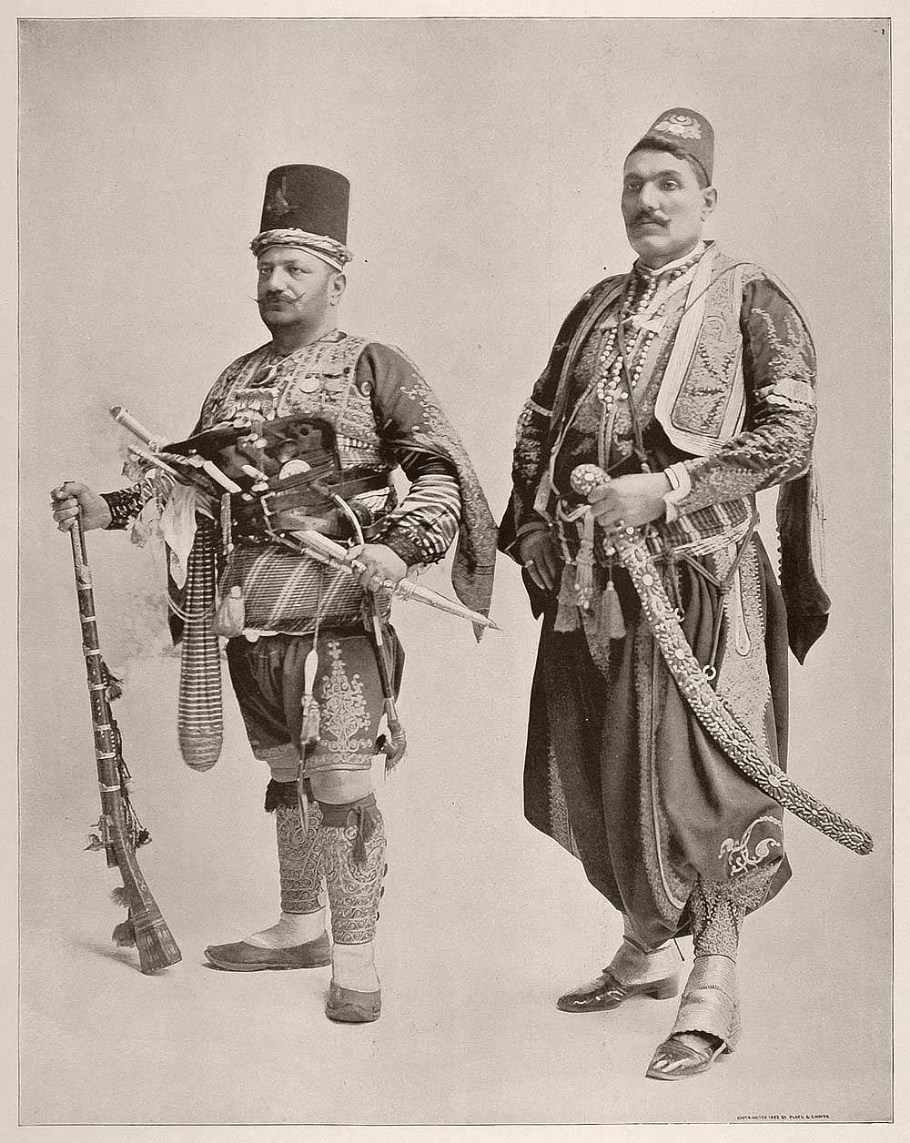 A Janissary at the Chicago world fair in 1893.
