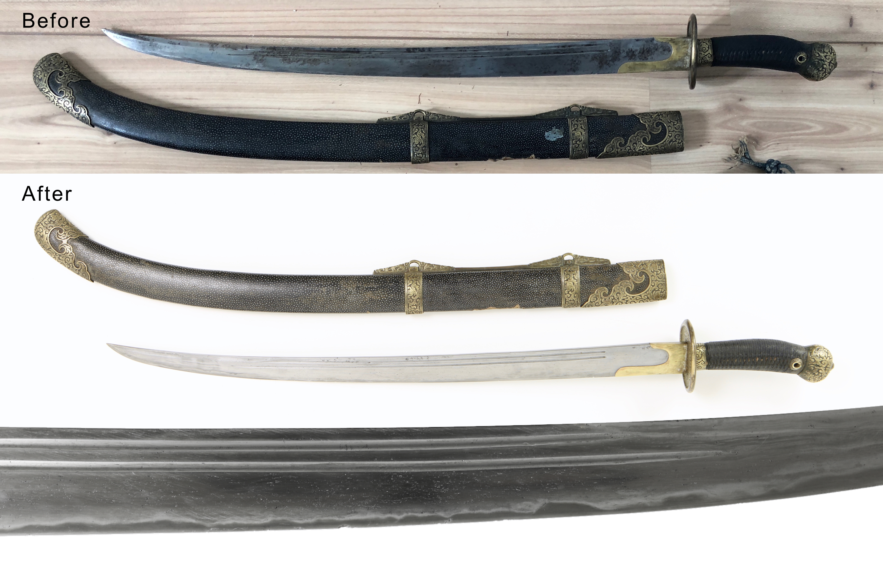 Antique Chinese saber polished by Philip Tom