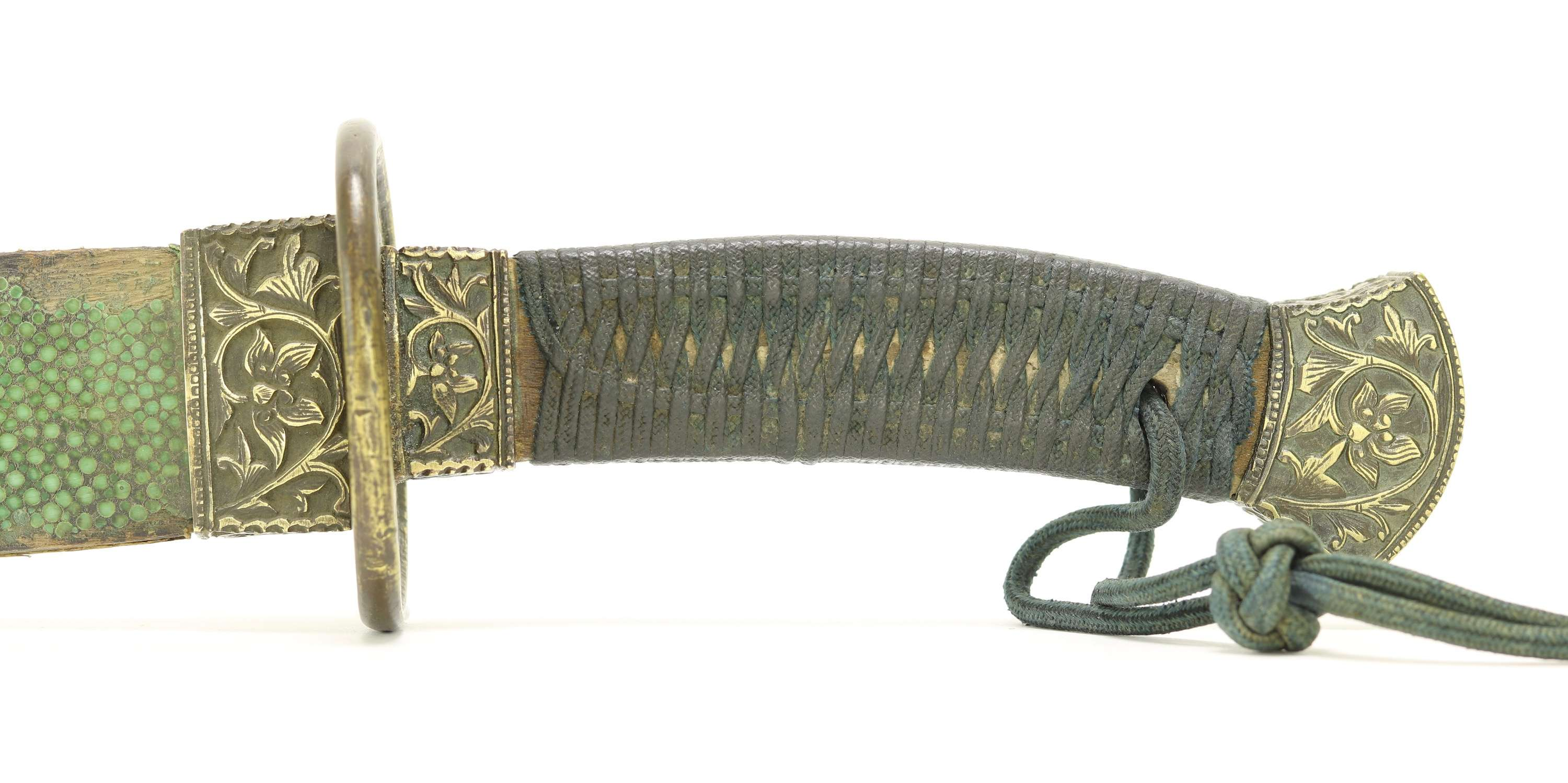 Antique Chinese officer saber in the angular style