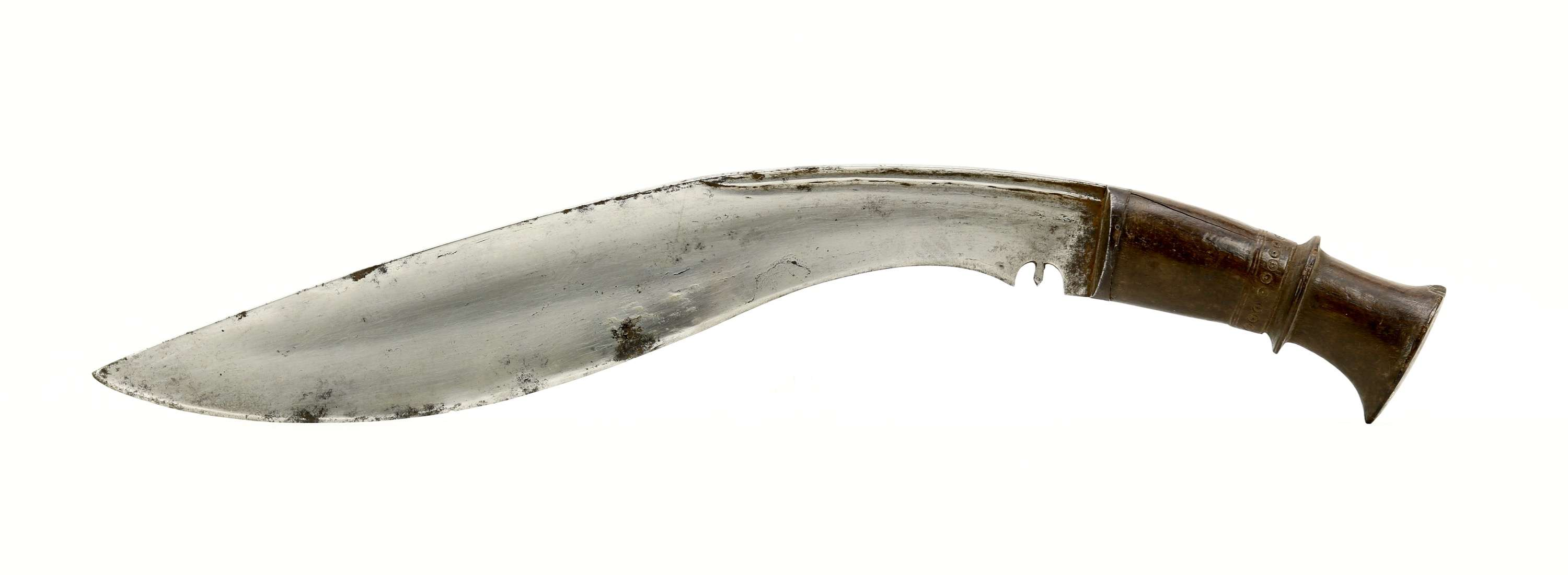 Very large silver mounted khukuri