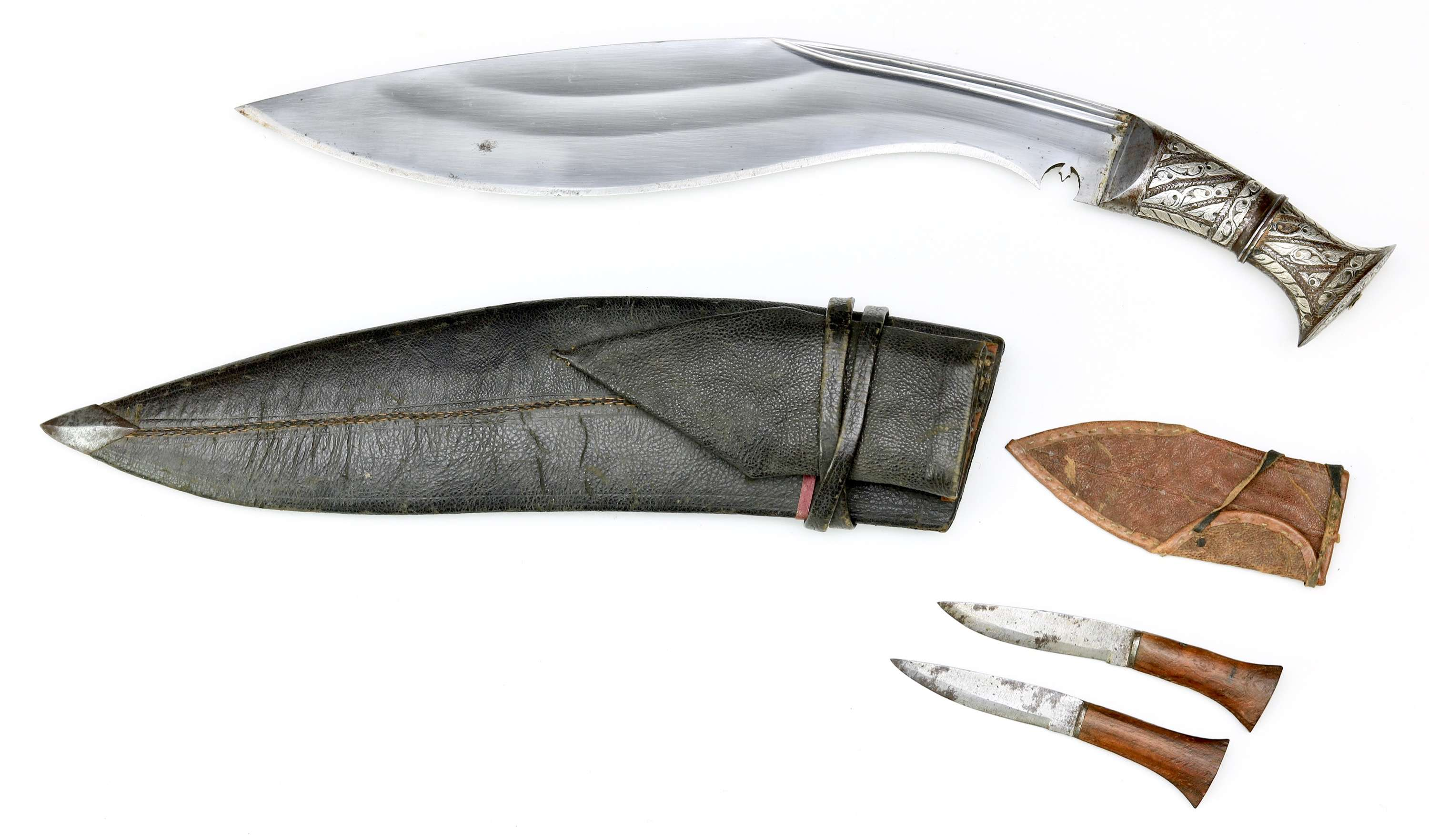 Budhune khukuri with iron hilt