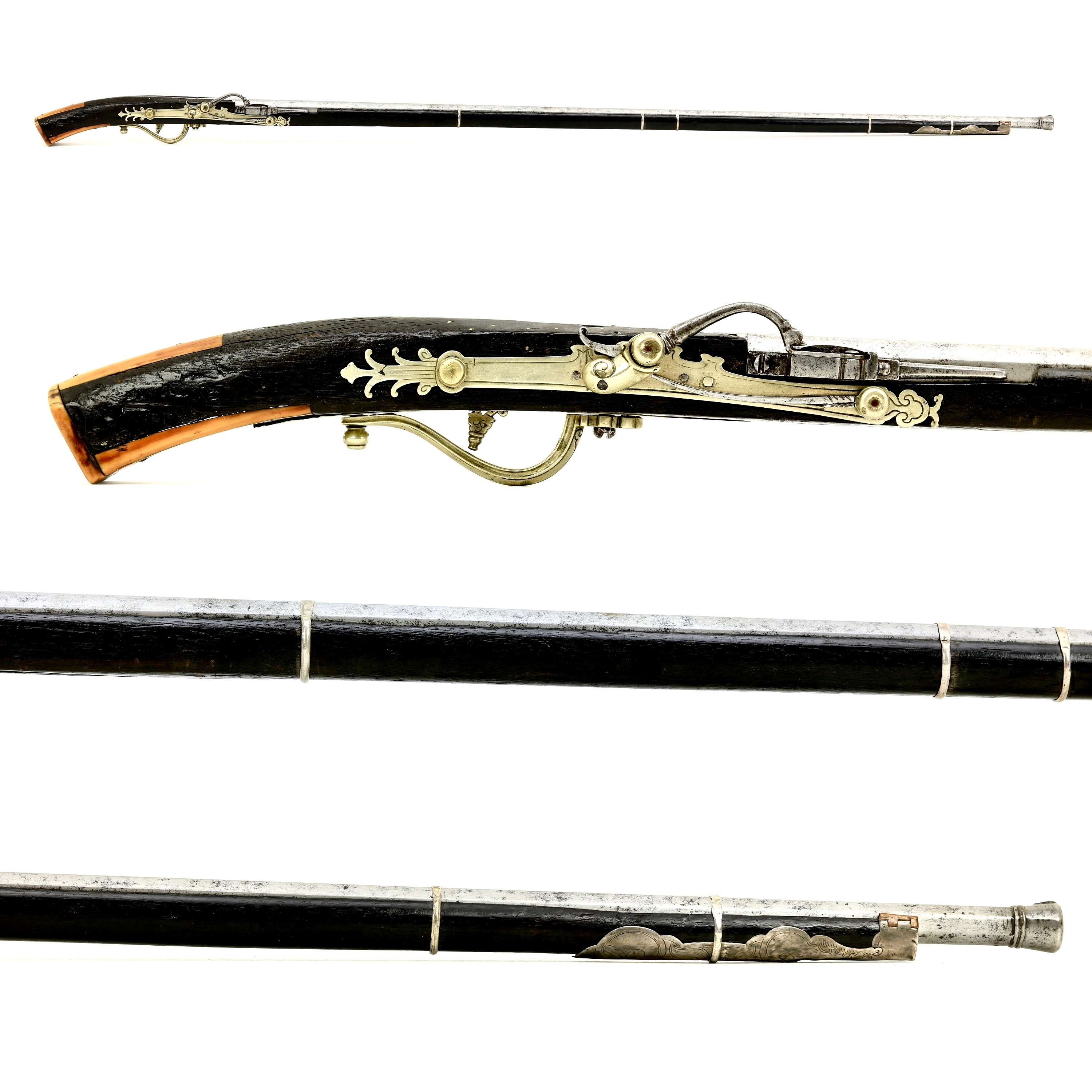 Vietnamese matchlock musket with baitong lock