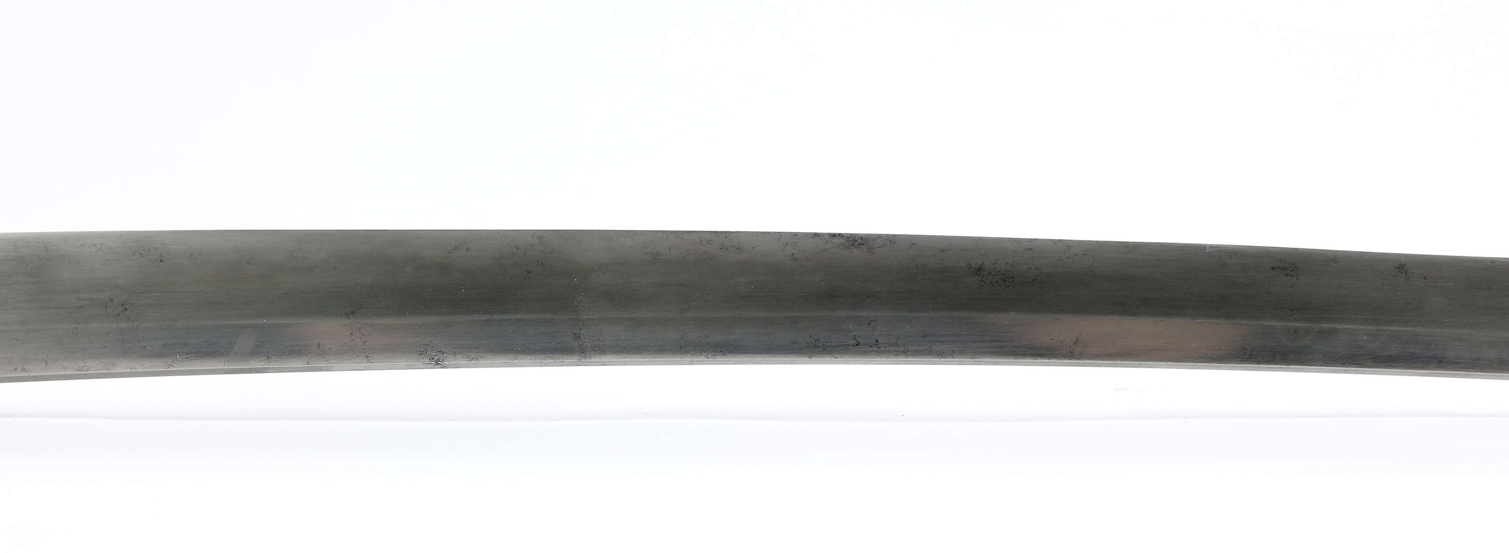 Japanese wakizashi with Burmese hilt in Indian scabbard